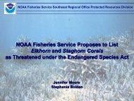 Acropora spp. Listing Public Meeting Presentation - Southeast ...