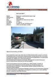 www.alpeimmo.at, E-mail: office@alpeimmo.at KAUF oder MIETE ...