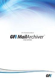 GFI-Produkthandbuch Erste Schritte