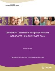 Integrated Health Service Plan - Central East Local Health ...