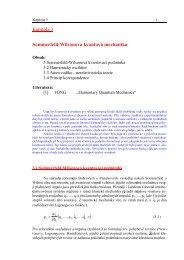 Kapitola 3 Sommerfeld-Wilsonova kvantová mechanika