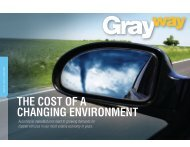 THE COST OF A CHANGING ENVIRONMENT - Gray Construction