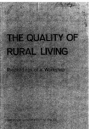 What Constitutes Quality of Living?