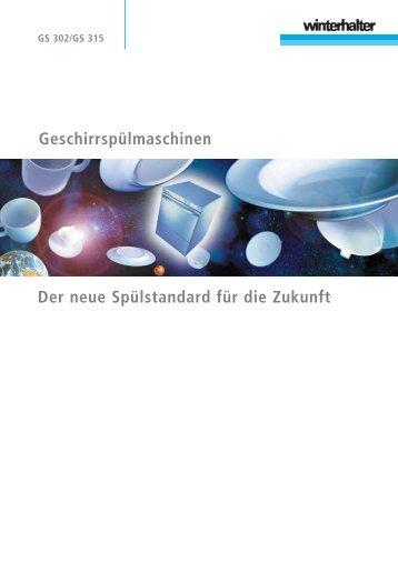 Die Geschirrspülmaschine GS 315 - Tönsmeyer Service GmbH