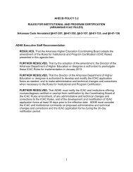 Institutional Certification Process - Arkansas Department of Higher ...