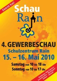 16. Mai 2010 4. GEWERBESCHAU RAIN ...  - Wir aus Rain