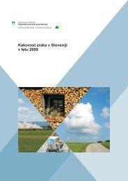 Kakovost zraka v Sloveniji v letu 2009, MOP ARSO