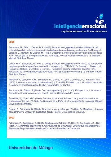 Capítulos sobre otras líneas de interés - Universidad de Málaga