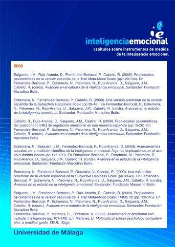 Capítulos sobre instrumentos de medida de inteligencia emocional