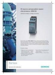 Nuevo Arrancador Suave SIRIUS 3RW30 - GRUP DAP