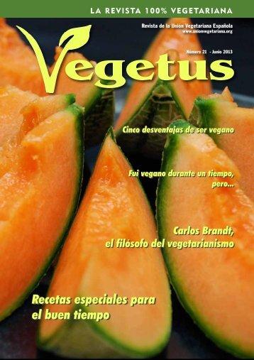 Descarga en PDF la revista Vegetus nº 21 - Unión Vegetariana ...