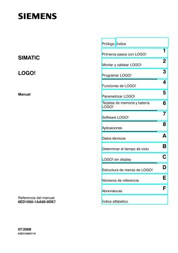 1 2 3 4 5 6 7 8 A B C D E F LOGO! SIMATIC - GRUP DAP