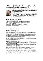 q-Biosalux (Instituto Español para el desarrollo de las ... - qeeg.es