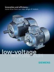 low-voltage MOTORS 1LE1 - GRUP DAP
