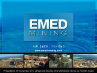 Presentation at General Meeting 19 December 2012 - EMED Mining