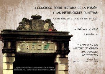 I CONGRESO SOBRE HISTORIA DE LA PRISIÓN Y LAS ...