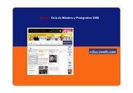 ¡Nueva! Guía de Másters y Postgrados 2008 - Educaweb.com