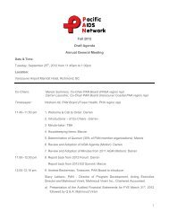 Fall 2012 Draft Agenda Annual General Meeting - Pacific AIDS ...