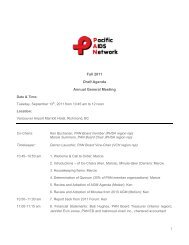 Fall 2011 Draft Agenda Annual General Meeting - Pacific AIDS ...