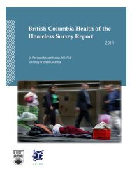 BC-Health-of-the-Homeless-Survey-FINAL[1] - Pacific AIDS Network