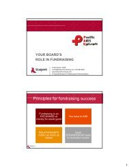 Principles for fundraising success - Pacific AIDS Network