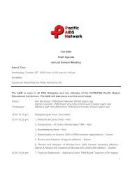 Fall 2009 Draft Agenda Annual General Meeting - Pacific AIDS ...