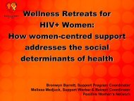 Wellness Retreats for HIV+ Women - Pacific AIDS Network