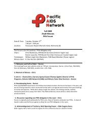 Fall 09 Draft PAN Forum Minutes - Pacific AIDS Network