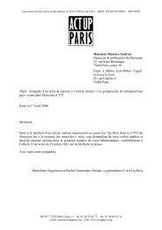 Monsieur Maurice Szafran Directeur de publication de ... - Act Up-Paris