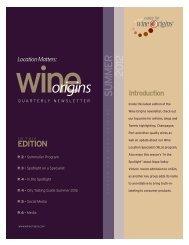 NEW CLASS OF WINE LOCATION SPECIALISTS - Wine Origins