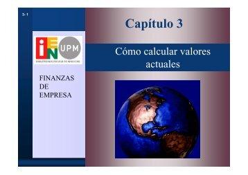 Finanzas de Empresa Capítulo3