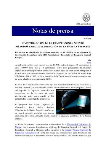 Investigadores de la UPM proponen nuevos métodos para ... - ETSIA