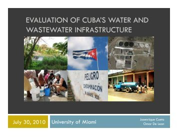 evaluation of cuba's water and wastewater infrastructure