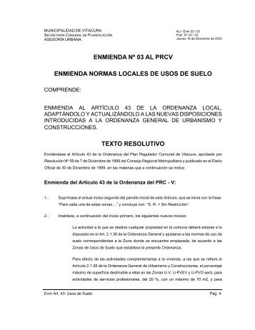 documento - Municipalidad de Vitacura