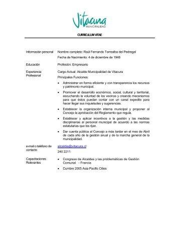 Asistente para currículos - Municipalidad de Vitacura