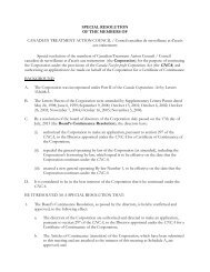 Special Resolution for Continuance and By-laws - Canadian ...