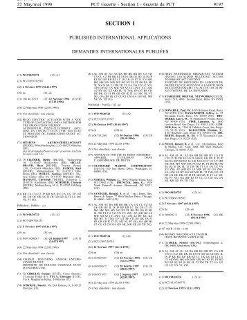 PCT/1998/20 - World Intellectual Property Organization