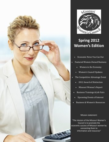 Spring 2012 Women's Edition - Missouri Women's Council