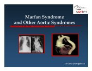 Marfan Syndrome and Other Aortic Syndromes - VHIR