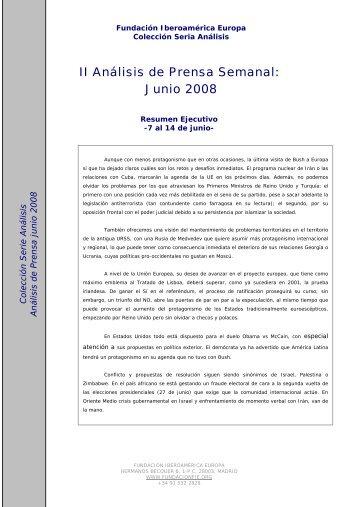 II Análisis de Prensa Semanal: Junio 2008 - El Diario Exterior