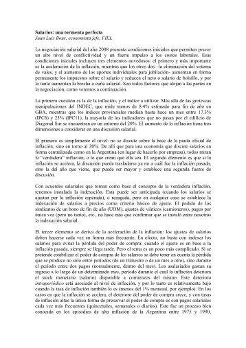 Salarios: una tormenta perfecta Juan Luis Bour ... - El Diario Exterior