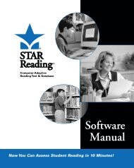 STAR Reading and Math User Guides - Educational Alternative ...