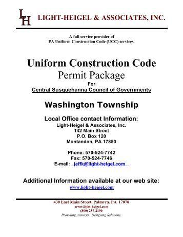 Uniform Construction Codes 60