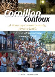 Conseil municipal - Cornillon-Confoux