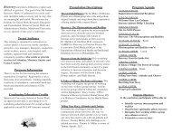 Program Agenda Presentation Descriptions Target ... - CMSU Program