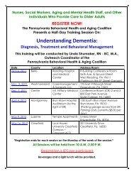 Understanding Dementia: - CMSU Program