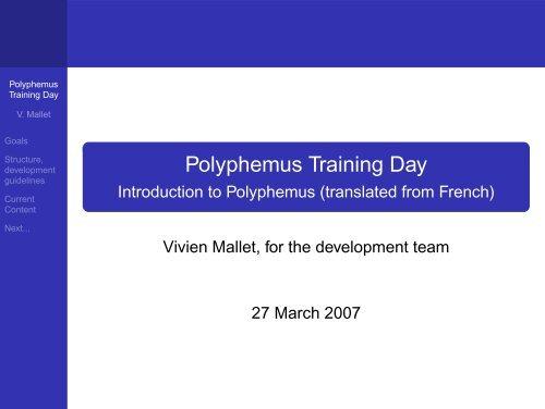 Polyphemus Training Day - Introduction to     - Cerea - ENPC