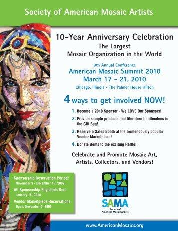 10-Year Anniversary Celebration Society of American Mosaic Artists