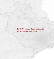 Rede Urbana e Regionalização do Estado de São Paulo - Emplasa