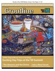 Exciting Day Trips at the '09 Summit - Society of American Mosaic ...